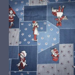 Holly Hobbie Blue Fabric 45 x 56 American Greeting